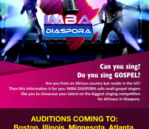 African Diaspora Gospel Singers Sought for Singing Competition