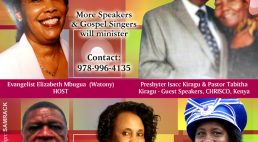 "Omega Anointing Ministry BOSTON CONVENTION""Abiding in Christ"" July 14-16th 2017 with Evangelist Elizabeth Mbugua (Watony)"