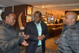 Dr. Fred Matiang'i, C.S. Ministry of Education, in Boston