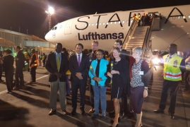 PHOTOS: JKIA receive Lufthansa's inaugural flight to Kenya.'Savoir Vivre' @Germany investment in Kenya
