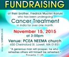 Community Appeal: Fredrick Muchiri Cancer Medical Fundraiser Nov 15 2015 @ PCEA NEEMA Church,Lowell MA