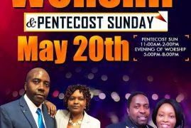 Goshen Chapel Presents:Great Evening of Worship &  Pentecost Sunday May 20th 2018 11Am to 2Am Evening 5 Pm to 8Am with Pst Joseck Kimani & Pst Sammy Nkayamba