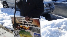 Photos:A Kenyan travels from Connecticut to Washington DC for Remembrance of European Imperialism Rally