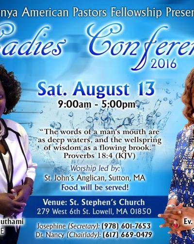 Kenyan American Pastors Fellowship Ladies Conference 2016