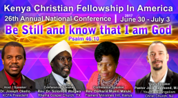 INVITATION: Kenya Christian Fellowship in America (KCFA) Annual National Conference: June 30th – July 3rd