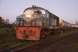 Last ride on the Lunatic Express:Train's last trip to Mombasa marks the end of an era