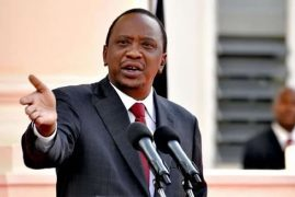 Uhuru Kenyatta of Kenya Travels to Canada for G-7 Summit