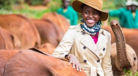 Lupita Wows Kenya; Launches Campaign To Save Elephants