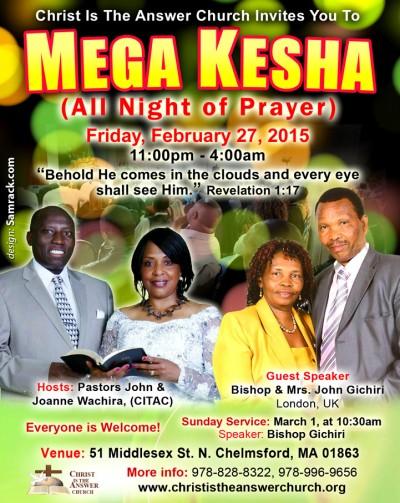 MEGA KESHA THIS FRIDAY AT CHRIST IS THE ANSWER CHURCH