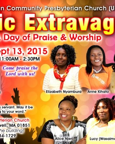 Kenyan Community  Presbyterian Church ( USHINDI) Music Extravaganza,Sep 13 2015