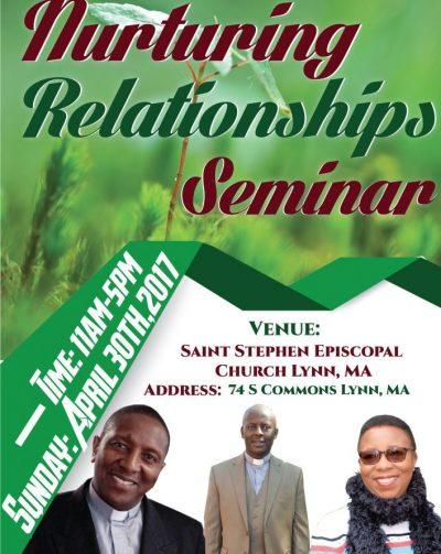 NURTURING RELATIONSHIPS SEMINAR:WITH BEATRICE NDURA & REV.JOSEPH NGOTHO