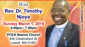OPEN FORUM WITH REV. DR. TIMOTHY NJOYA: THE STATE OF THE KENYAN NATION