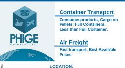 Phige Shipping LLC for all your shipping needs USA to KENYA
