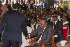 Uhuru, Raila in pledge to accept fresh poll results