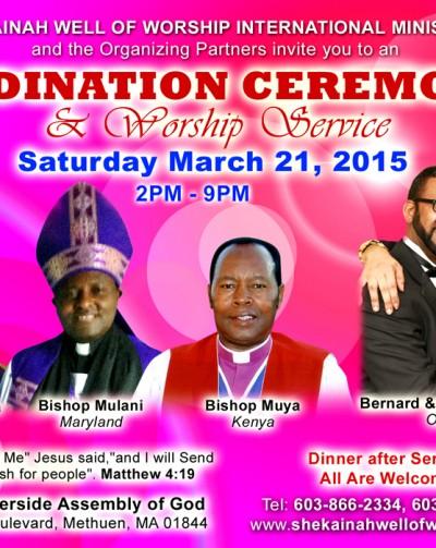 BERNARD & ESTHER NDIRANGU ORDINATION ~ SHEKAINAH WELL OF WORSHIP