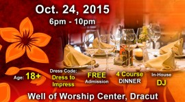Singles Dinner @ Well of Well of Worship Center,145 Broadway Rd Dracut,Massachusetts