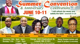 Kenyan Community Presbyterian Church (USHINDI) Summer Convention Anniversary & Celebrations  June 10-11 2017