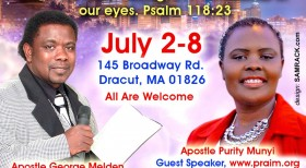 Powerful Revival Meetings,July 2nd – July 8th 2015 with  Apostle George Melden & Apostle Purity Munyi