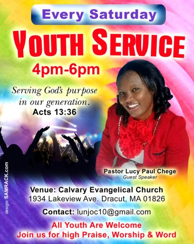 Ongoing Youth Services with Pastor Lucy Chege