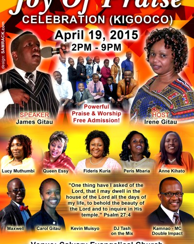 Joy of Praise Celebration (Kigooco), April 19th