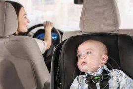 Infant car seat designed to prevent hot car deaths