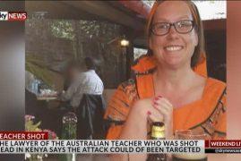 Aussie teacher on her knees when shot in Kenya