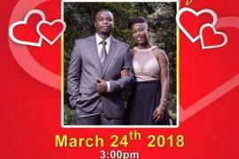 INVITATION:Peter Ruwa & Esther Ikegu Prewedding March 24th 2018 @3PM @PCEA IMANI CHURCH 117 Perry St,Lowell,Massachusetts   ALL ARE INVITED!