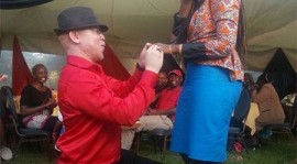Nominated MP Isaac Mwaura proposes to his girlfriend during a public event