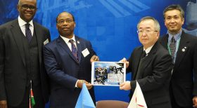 H.E. THE AMBASSADOR VISITS JAXA TSUKUBA SPACE CENTER FOR THE HANDINGOVER CEREMONY OF KENYAN KIBOCUBE SATELLITE.