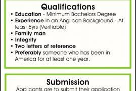 St John's Anglican Church,Sutton OPEN POSITION PRIEST Job Advert