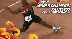 With his win in Javelin, Julius Yego becomes the first Kenyan to win a world title in a field event