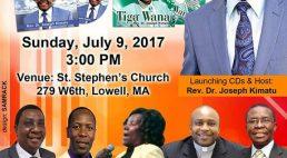 Rev.Dr.Kimatu 2 CD Launch Sunday,July 9th 2017 @3Pm at St.Stephen's Church Lowell Massachusetts