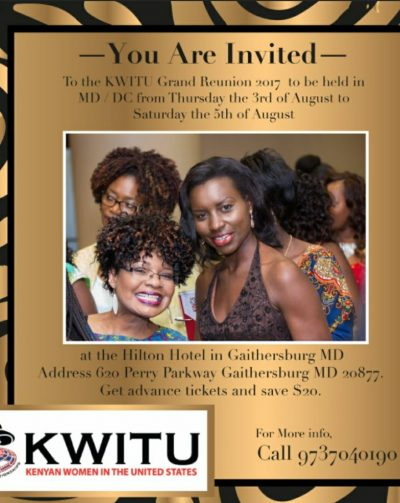 KWITU GRAND REUNION 2017: AUGUST 3RD TO 5TH IN GAITHERSBURG, MARYLAND