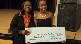 Joanne Muthoni voted 1st place singer at Lowell High School Talent Show