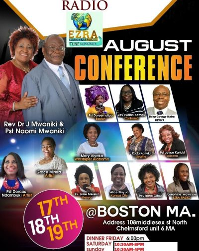Ezra Christian Radio August Conference  Auguat 17th 18th & 19th 2018  108 Middlesex Street North Chelmsford ,Massachusetts