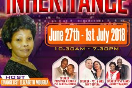 Omega Anointing Ministry:Preparation for our Inheritance June 27th – 1st July 2018 Lowell,Massachusets