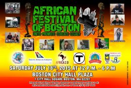 6th Annual African Festival of Boston,Saturday July 18th 2015 from 12PM to 6PM Open to All!