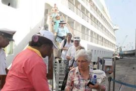 Luxury cruise ship arrives in Mombasa with 479 tourists
