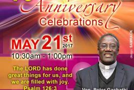 Invitation:St. Paul's Community Church 10th Anniversary Church Celebrations Lawrence,Massachusetts