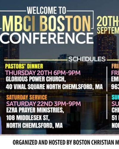 MBCI Boston Conference 20th-23rd Sept 2018 Thur 20th to 23rd September 2018