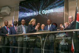 UHURU RINGS BELL TO OPEN SHARE TRADING IN LONDON