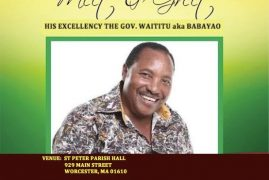 Governor Ferdinand Waititu Meet And Greet Meeting In Worcester,Massachusetts July 29 2018 @5PM